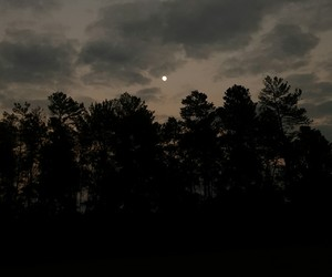 clouds, moon, and nature image