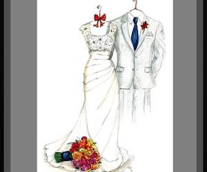 wedding dress, wedding gift, and anniversary gift image