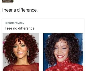 funny, twitter, and whitney houston image