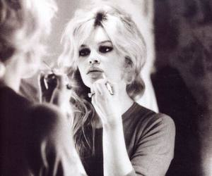 brigitte bardot, black and white, and blonde image