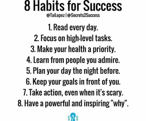 success, Action, and goals image