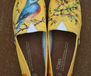bird, shoes, and style image