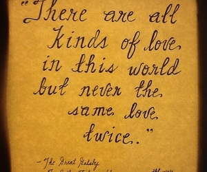 quote, the great gatsby, and love image