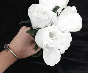 flowers and white roses image