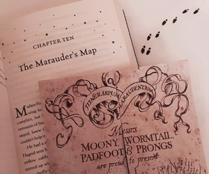 kris4amurr, harry potter, and marauders map image