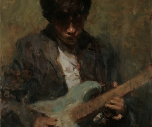 guitar, ron hicks, and painting image