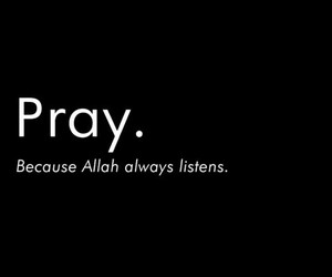 islam, pray, and allah image