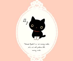black cat, kutusita nyanko, and cat image