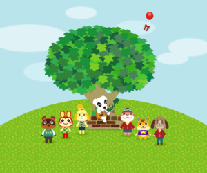 animal crossing, line, and videogame image