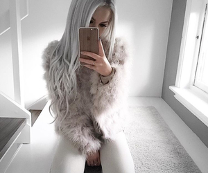 clothes, feathers, and gray hair image
