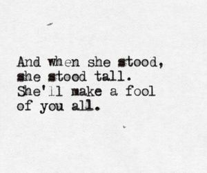 quote, girl, and fool image