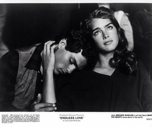 black and white, couple, and brooke shields image