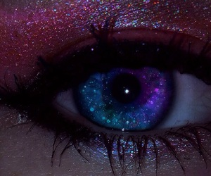 beautiful, eye, and space image