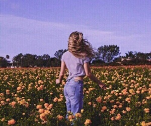 flowers, girl, and tumblr image