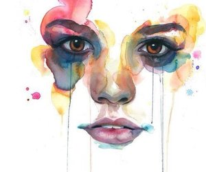 art, colors, and girl image