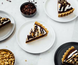 chocolate, dessert, and pie image