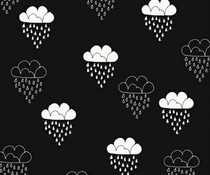 background, black and white, and clouds image