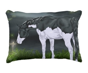 home decor, horses, and throw pillows image