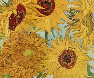 art, van gogh, and sunflowers image