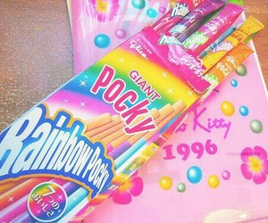 pocky, rainbow, and kawaii image