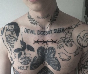 tattoo, boy, and Devil image