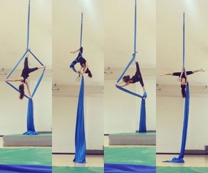 aerial, splits, and straddle image