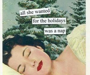christmas, nap, and vintage image