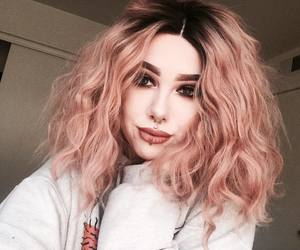 bob, ombre wigs, and pink hair image