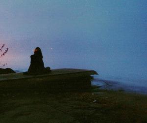 grunge, alone, and blue image