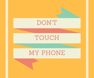 wallpaper, yellow, and don'ttouchmyphone image