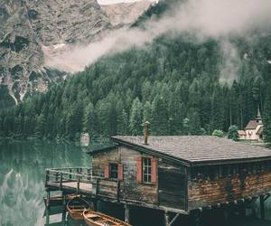 lake and mountains image