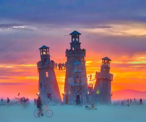 Burning Man, costume, and festival image