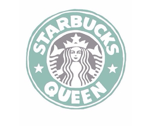starbucks, Queen, and overlay image