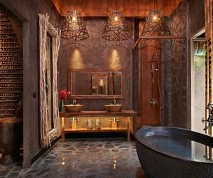 baignoire, bathroom, and salle de bain image