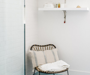 bathroom, neutral, and chic image