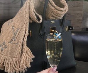 champagne, Louis Vuitton, and luxury image