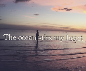 girls, heart, and ocean image