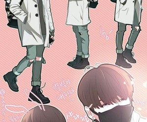 bts, jungkook, and anime boy image