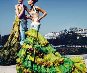fashion photography, patrick demarchelier, and dior couture image