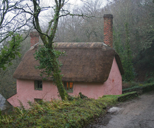 cottage, house, and pink image