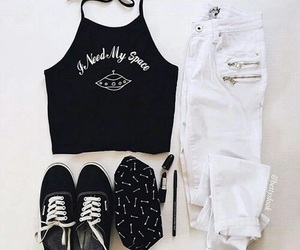 white, black, and fashion image