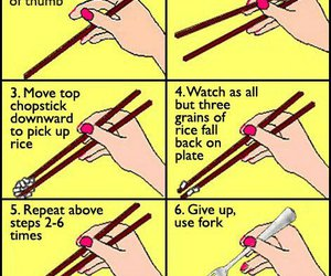 funny, chopsticks, and lol image