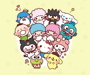 characters, cinnamoroll, and hello kitty image