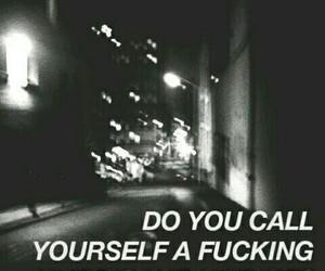 Lyrics, black and white, and gasoline image