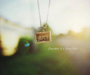 camera, necklace, and every day is a fairy tale image