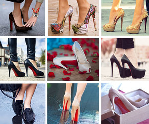 red sole shoes image
