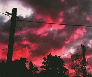 sky, red, and clouds image