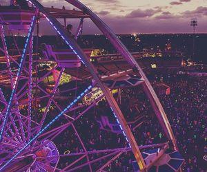 aesthetic, ferris wheel, and purple image