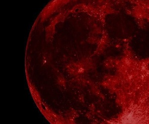 moon, red, and black image