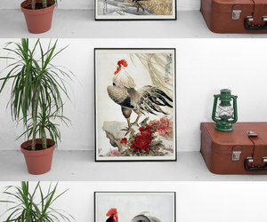 chinese new year, etsy, and vintage print set image